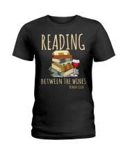 READING BETWEEN THE WINES Ladies T-Shirt thumbnail
