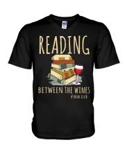 READING BETWEEN THE WINES V-Neck T-Shirt thumbnail