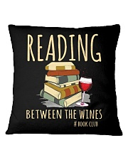 READING BETWEEN THE WINES Square Pillowcase thumbnail