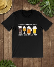 CRAFT BEER LOVER - MAKES ME HAPPY Classic T-Shirt lifestyle-mens-crewneck-front-18