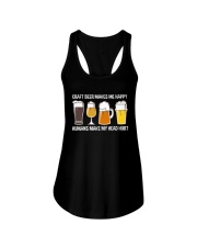 CRAFT BEER LOVER - MAKES ME HAPPY Ladies Flowy Tank thumbnail