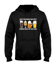 CRAFT BEER LOVER - MAKES ME HAPPY Hooded Sweatshirt thumbnail