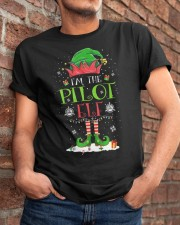 AVIATION PILOT GIFT - CHRISTMAS ELF Classic T-Shirt apparel-classic-tshirt-lifestyle-26