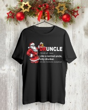 CRAFT BEER BREWERY- CHRISTMAS DRUNCLE Classic T-Shirt lifestyle-holiday-crewneck-front-2