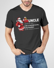 CRAFT BEER BREWERY- CHRISTMAS DRUNCLE V-Neck T-Shirt garment-vneck-tshirt-front-lifestyle-01