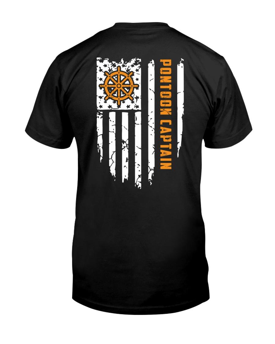 PONTOON BOAT GIFT - CAPTAIN FLAG BACK Classic T-Shirt