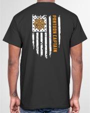PONTOON BOAT GIFT - CAPTAIN FLAG BACK Classic T-Shirt garment-tshirt-unisex-back-04