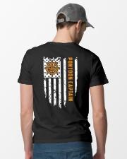 PONTOON BOAT GIFT - CAPTAIN FLAG BACK Classic T-Shirt lifestyle-mens-crewneck-back-6