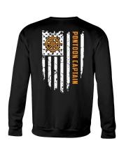 PONTOON BOAT GIFT - CAPTAIN FLAG BACK Crewneck Sweatshirt thumbnail