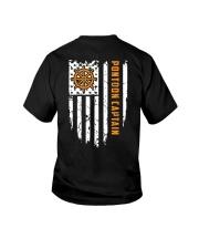 PONTOON BOAT GIFT - CAPTAIN FLAG BACK Youth T-Shirt thumbnail