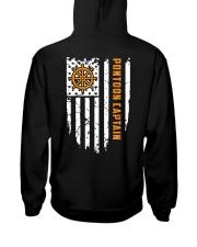 PONTOON BOAT GIFT - CAPTAIN FLAG BACK Hooded Sweatshirt thumbnail