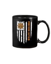 PONTOON BOAT GIFT - CAPTAIN FLAG BACK Mug thumbnail