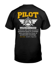 PILOT GIFTS  - DEFINITION OF PILOT Classic T-Shirt back