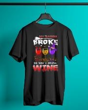 B - HW - WINE Classic T-Shirt lifestyle-mens-crewneck-front-3