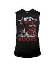 WINE LOVERS - I LOVE WINE AND BOOKS Sleeveless Tee thumbnail
