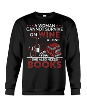 WINE LOVERS - I LOVE WINE AND BOOKS Crewneck Sweatshirt thumbnail