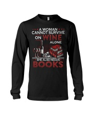 WINE LOVERS - I LOVE WINE AND BOOKS Long Sleeve Tee thumbnail