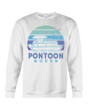 PONTOON BOAT GIFT - PONTOON QUEEN 4 Crewneck Sweatshirt thumbnail