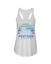 PONTOON BOAT GIFT - PONTOON QUEEN 4 Ladies Flowy Tank thumbnail