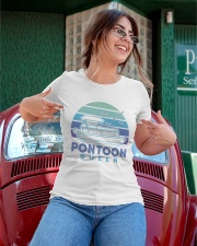 PONTOON BOAT GIFT - PONTOON QUEEN 4 Ladies T-Shirt apparel-ladies-t-shirt-lifestyle-01