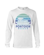 PONTOON BOAT GIFT - PONTOON QUEEN 4 Long Sleeve Tee thumbnail