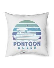 """PONTOON BOAT GIFT - PONTOON QUEEN 4 Indoor Pillow - 16"""" x 16"""" thumbnail"""