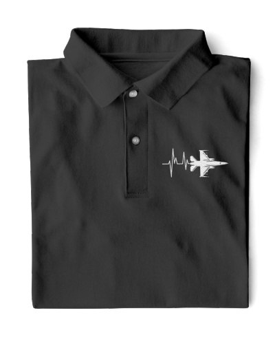 AVIATION RELATED GIFT - F16 HEARTBEAT POLO