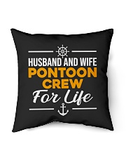 "PONTOON BOAT GIFT - HUSBAND AND WIFE PONTOON CREW Indoor Pillow - 16"" x 16"" thumbnail"
