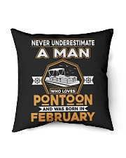 "PONTOON BOAT GIFT - FEBRUARY PONTOON MAN Indoor Pillow - 16"" x 16"" thumbnail"