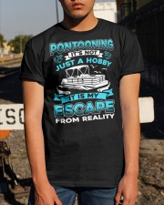PONTOON BOAT GIFT - ESCAPE FROM REALITY Classic T-Shirt apparel-classic-tshirt-lifestyle-29