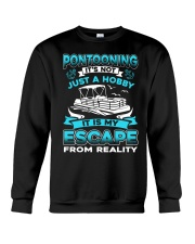 PONTOON BOAT GIFT - ESCAPE FROM REALITY Crewneck Sweatshirt thumbnail
