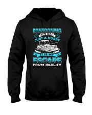 PONTOON BOAT GIFT - ESCAPE FROM REALITY Hooded Sweatshirt thumbnail