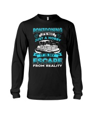 PONTOON BOAT GIFT - ESCAPE FROM REALITY Long Sleeve Tee thumbnail