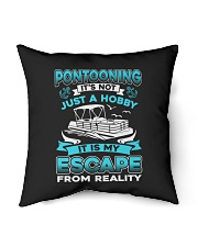 """PONTOON BOAT GIFT - ESCAPE FROM REALITY Indoor Pillow - 16"""" x 16"""" thumbnail"""