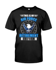 AIRPLANE PILOT GIFT - AIR FORCE UNIFORM Classic T-Shirt front