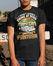 PONTOON BOAT GIFT - DRINKING AT NOON Classic T-Shirt apparel-classic-tshirt-lifestyle-29