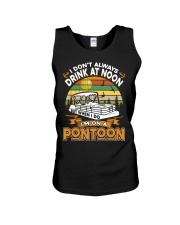 PONTOON BOAT GIFT - DRINKING AT NOON Unisex Tank thumbnail