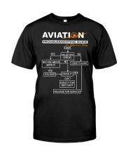 PILOT GIFT - AVIATION TROUBLESHOOTING GUIDE Classic T-Shirt front