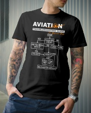PILOT GIFT - AVIATION TROUBLESHOOTING GUIDE Classic T-Shirt lifestyle-mens-crewneck-front-6