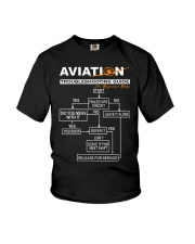 PILOT GIFT - AVIATION TROUBLESHOOTING GUIDE Youth T-Shirt thumbnail