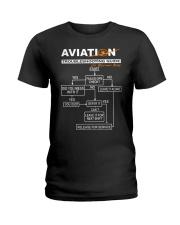 PILOT GIFT - AVIATION TROUBLESHOOTING GUIDE Ladies T-Shirt thumbnail