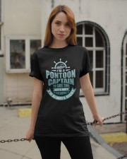 PONTOON BOAT GIFT - TO SAVE TIME LET'S JUST ASSUME Classic T-Shirt apparel-classic-tshirt-lifestyle-19