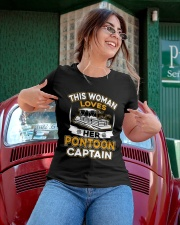 PONTOON BOAT GIFT - LOVE HER PONTOON CAPTAIN Ladies T-Shirt apparel-ladies-t-shirt-lifestyle-01