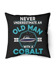 """COBALT BOAT GIFT - NEVER UNDERESTIMATE AN OLD MAN Indoor Pillow - 16"""" x 16"""" thumbnail"""