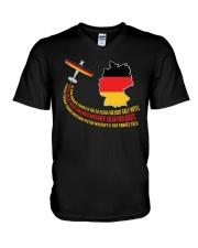 AIRPLANE GIFT - GERMANY FLAG  V-Neck T-Shirt thumbnail