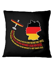 AIRPLANE GIFT - GERMANY FLAG  Square Pillowcase thumbnail