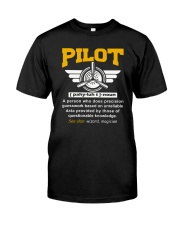 PILOT GIFTS - DEFINITION OF A PILOT Classic T-Shirt front