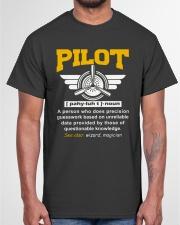 PILOT GIFTS - DEFINITION OF A PILOT Classic T-Shirt garment-tshirt-unisex-front-03