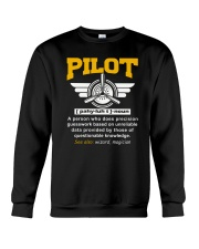 PILOT GIFTS - DEFINITION OF A PILOT Crewneck Sweatshirt thumbnail