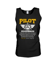 PILOT GIFTS - DEFINITION OF A PILOT Unisex Tank thumbnail
